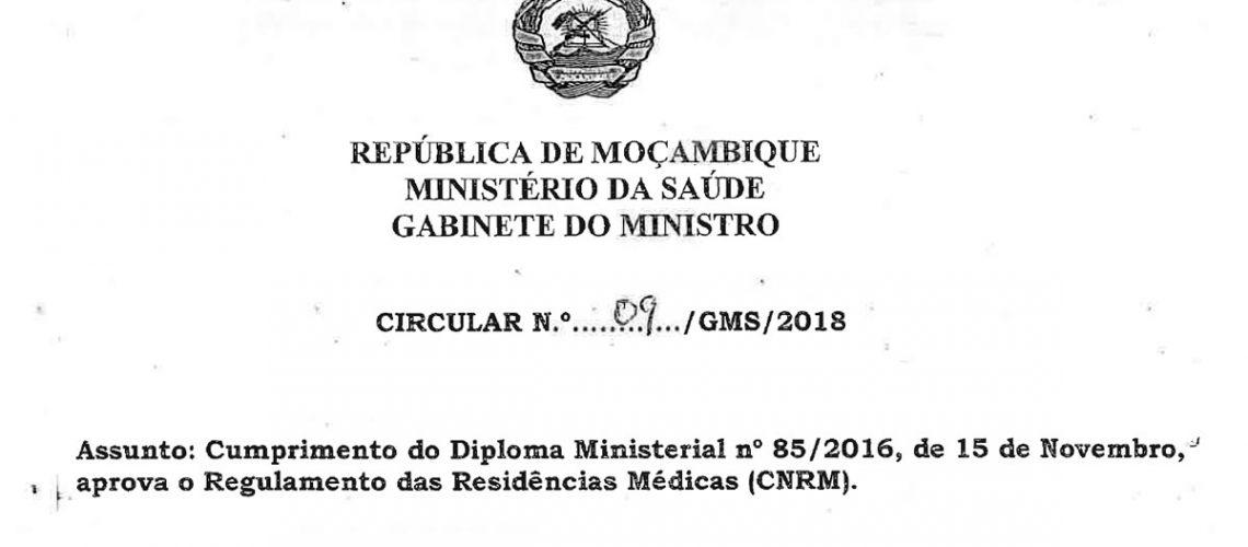Cumprimento do Diploma Ministerial nr 85-2016