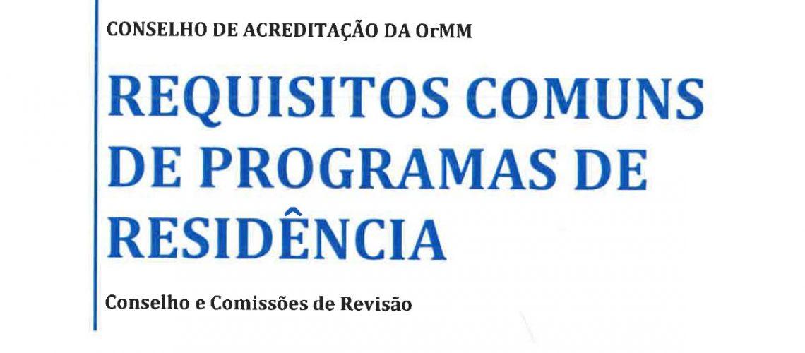 Requisitos Instucionais da CNRM